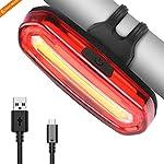 Luce Posteriore Led Bici Intelligente, SEWOBYE Luce Bici Ricaricabile USB Ultra Luminosi, Luci Bici Impermeabile fanale…