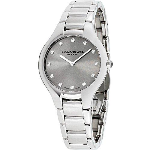 Raymond Weil Noemia signore orologio al quarzo, 12brillanti, argento,...