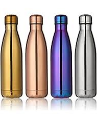 KING DO WAY 500ml Bouteille D'eau Isotherme Mug Flasque Réutilisable En Acier Inoxydable Pour Sport Voyage Camping Randonnée Water Bottle