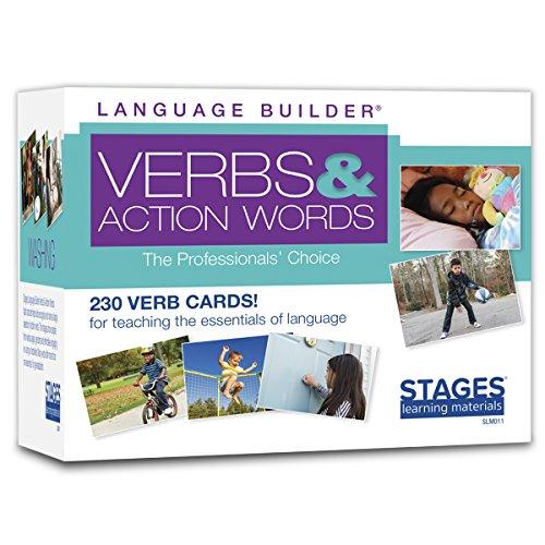 Stages Learning SLM011 Language Builder Verbs und Action Words Flash Cards für ABA und Autismus Vokabelkarten (Aba Spielzeug)