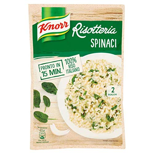 Knorr Risotto spinaci Rice Spinach 175g 100% Italian Ready Meals