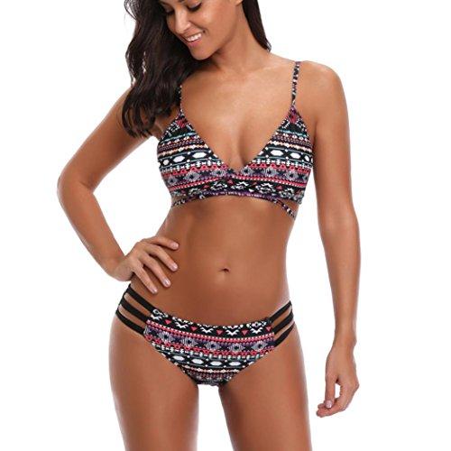 fcd41888cb6e donne sexy push-up bikini set fascia per stampa a vita bassa costume da  bagno