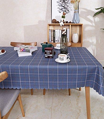 DIT PVC Plaid rechteckige Tischdecke Tisch Schutz Fleck beständiges Wasserdichtes Anti-Hot 135x220cm (53.1 * 86.6inches) (Farbe : Gelb)