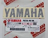 BRAND NEW 100% GENUINE YAMAHA Decal Sticker Emblem Logo 100mm x 23mm BLACK Self Adhesive Motorcycle / Jet Ski / ATV / Snowmobile