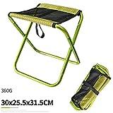 MRXUE Outdoor-Klappbarer Camping-Stuhl Aluminium-Halterung Camping-Reise Stuhl Wandern Angeln Grill Hocker Rucksack Sitzhocker,Green