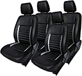 #10: Khushal Leatherite Car Seat Covers Premium Quality Designer Front and Back Seat Cover Set for Tata Tiago with Free Steering Cover