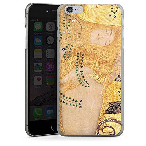Apple iPhone 6 Hülle Case Handyhülle Klimt Wasserschlangen Kunst Hard Case anthrazit-klar