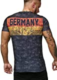 Deutschland T-Shirt Herren Schwarz Adler Men Germany Tee Shirt WM 18 World Cup L