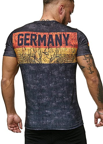 John Kayna Deutschland T-Shirt Herren Schwarz Adler Men Germany Tee Shirt WM 18 World Cup L