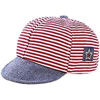 Leisial Rayas Gorra de Béisbol Bebé del Borde Suave Sombrero del Sol Verano  para ... 011e4f9965e