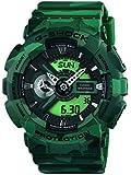 Casio Herren-Armbanduhr XL G-Shock Analog - Digital Quarz Resin GA-110CM-3AER
