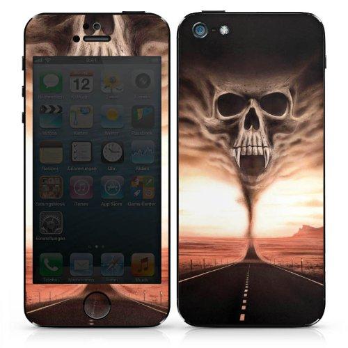 Apple iPhone 5 Folie Skin Sticker aus Vinyl-Folie Aufkleber Skull Schädel - Halloween-thema Iphone 5