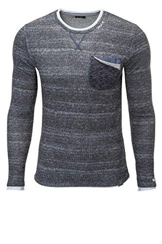 Key Largo Herren Strickpullover Pullover O-Neck Sweater Dark Grey