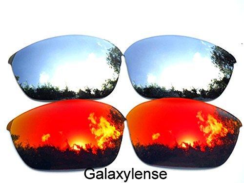 Galaxis Ersatzgläser für Oakley Half Jacket 2.0 rot & Titan Farbe Polarisierend - rot & Titan