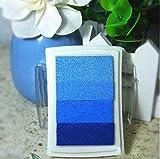 LanLan, 4Farben, Farbverlauf, Stempelkissen, für stempel aus Gummi, Papier, Scrapbooking-Zubehör-, Duft-Öl-DIY Scrapbook Fotoalbum