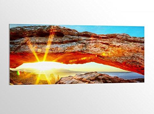 Alu-Dibond 100x40cm Landschaft Fels National Park USA Bild auf Aluminium AluDibond UV Druck gebürstet Wandbild Metall Effekt 16A2659, Alu Gr. 2:100x40cm