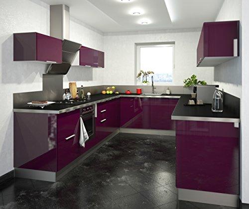 Berlenus CP8HA Mobile da cucina alto, 2 sportelli, 80 cm ...