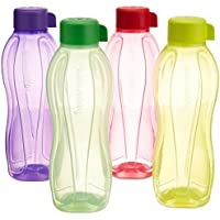 TUPPERWARE Eco Sport Wasser Flasche Schraubverschluss Rund 500ml 4Stück