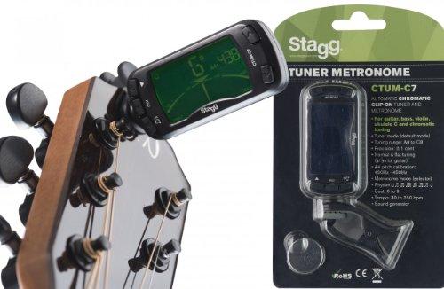 Sintonizador con metrónomo cromatico para guitarra Stagg