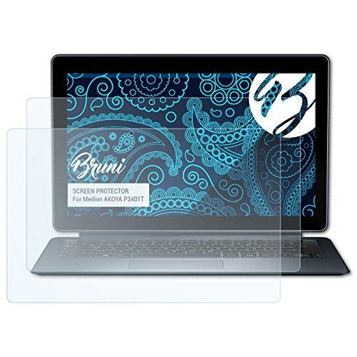 Bruni Schutzfolie für Medion AKOYA P3401T Folie, glasklare Bildschirmschutzfolie (2X)