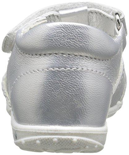 Primigi Galenia, Chaussures Premiers pas bébé fille Argent (Vitello Laminat Argento)