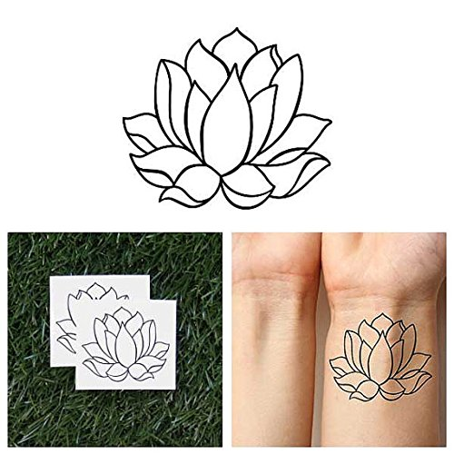 tattify-tatouages-temporaires-simple-lotus-fleur-deux-semianes-lotus-set-de-2