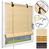 Sol Royal Tenda a Rullo in bambù 60x160cm SolDecor B86 - Veneziana per finestre, Porte e balconi - avvolgibile Bamboo Chiaro