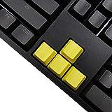 Feicuan DIY Accessory Gaming Keyboard Blank PBT WASD Keycaps OEM Height für Mechanische Tastatur -Yellow