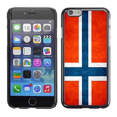 Graphic4You Vintage Uralt Flagge Von Schweiz Schweizer Design Harte Hülle Case Tasche Schutzhülle für Apple iPhone 6 / 6S Norwegisch