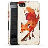 Blackberry Z10 Hülle Premium Case Schutz Cover Fuchs Vulpes Art