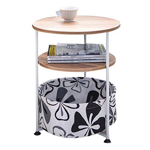 HAIPENG Kleiner Tisch Klein Beistelltisch Kaffee Side End Tabellen Für Kleine Räume Mit Regal Ecke Runden Tabelle Nachttisch Hölzern Kreativ (Farbe : 3#, größe : 41x53cm) - 3 Regal-große Tabelle