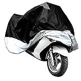 lanxi Abdeckhaube atmungsaktiv für Motorrad Wasserdicht und UV inkl. Aufbewahrungsbeutel schwarz Größe XL