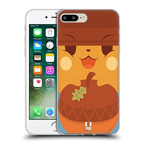 Head Case Designs Tenero Gatti A Pois Cover Morbida In Gel Per Apple iPhone 7 Plus / 8 Plus Faccia