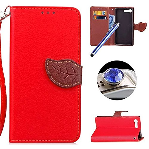 sony-xperia-x-compact-leather-casesony-xperia-x-compact-wallet-caseetsue-creative-leaf-pattern-pu-le