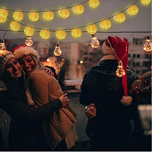 Solar Laterne Lichterketten, 6.0M 30 LED wasserdicht Outdoor Solar dekorative Lichter für Garten, Hochzeit, Weihnachten und Urlaub Dekorationen, warmes Weiß