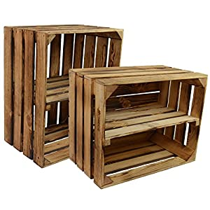 Holzkisten Regal Garten Deine Wohnideende