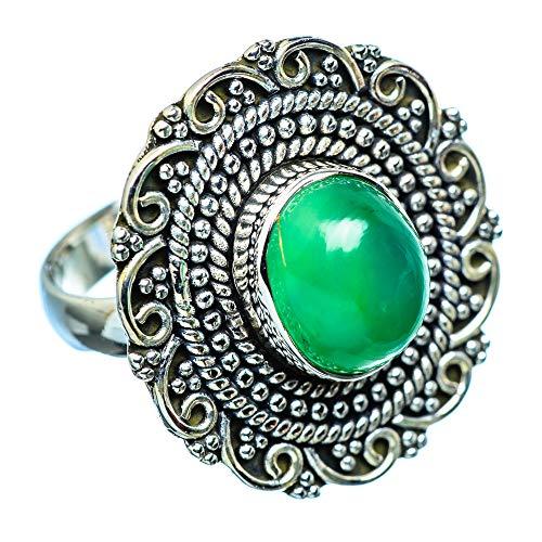 Green Onyx, Grüner Onyx 925 Sterling Silber Ring 6.5 (Ana Silver Co Ringe Grün)