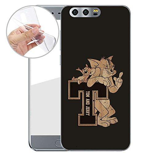 dein Honor 9 Made In Germany Hülle mit Motiv und Optimalen Schutz Silikon Tasche Case Cover Schutzhülle für Dein Honor 9 - T schwarz (Handys Für T Mobil)