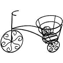 Macetero bicicleta forja negro (49x31.5x18.5)