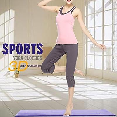 Sidiou Group Women 's Yoga-Kleidung Frühling und Sommer Sport-Fitness-Yoga-Kleidung dreiteilige Trainingsanzug Modales Yogaset