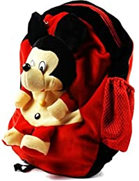 Skky Bell Mickey Mouse Cute Teddy Soft Toy School Bag For Kids, Travelling Bag, Carry Bag, Picnic Bag, Teddy Bag...