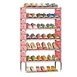 Wanforjewellery Porte-Chaussures, Étagère Chaussures 6 Couches Metal en Plastique, Armoire de Rangement Montage soi-même -...