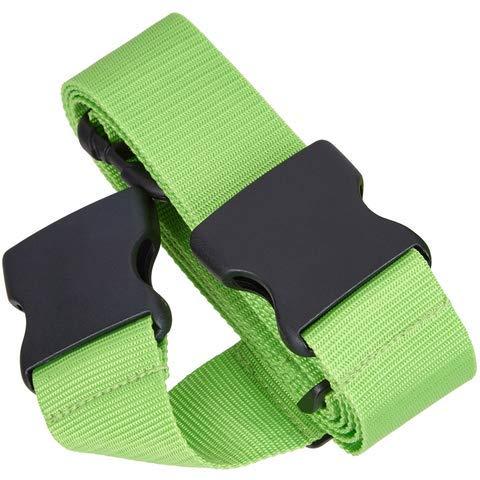 5-stück Gepäck (TRAVELTO Gepäckgurt zum Verschließen von Gepäck, Maße 5x200 cm (2 Stück), 2-Wege-Gepäckgurt,Neongrün, Koffer-Gurt, Gepäck-Gurt)