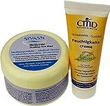 Naturset für Behandlung gegen Akne, Pickel, unreine, fettige Haut: SIVASH-Heilerde-Gesichtsmaske 250g + Teebaumöl Feuchtigkeitscreme 50ml