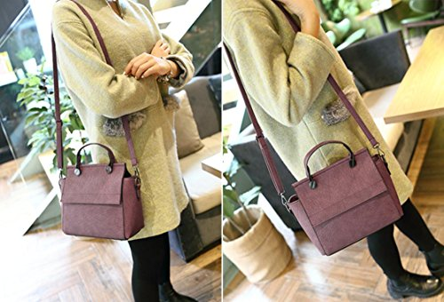 X&L Damen Jahrgang Mode Handtasche einfach Umhängetasche Umhängetaschen purple red