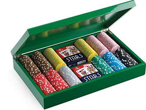 Juego JU00068 - Set de Poker Camelot con 300 fichas, Incluye Cartas Poker 100% plástico