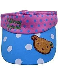 AISI Niñas Cute plegable visera Sun Hat verano en topless exterior Caps Azul azul