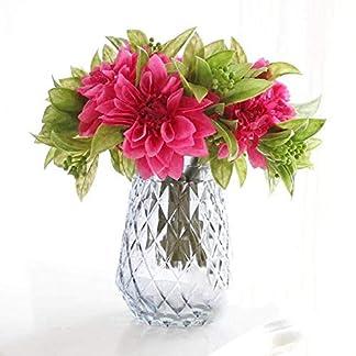 qingtianlove Ramo de Flores Artificiales, Dalia, peonía, peonía, Ramo de Flores secas, Flores Falsas, Rosa, Rosa