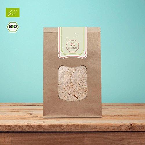 süssundclever.de® Bio Haselnussmehl | nicht entölt | unbehandelt | 500 g | in ökologisch-nachhaltiger Bio-Verpackung | gemahlene Haselnusskerne