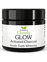 Isabella's Clearly GLOW Teeth Whitening Activated Charcoal Powder. 100% Organic Food Grade Non-GMO, Better than Strips, Bleach, Toothpaste. Removes Stains & Plaque. USA (20g, 3 Months Supply)